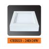 Đèn led ốp trần vuông 24W CED221-24D Comet